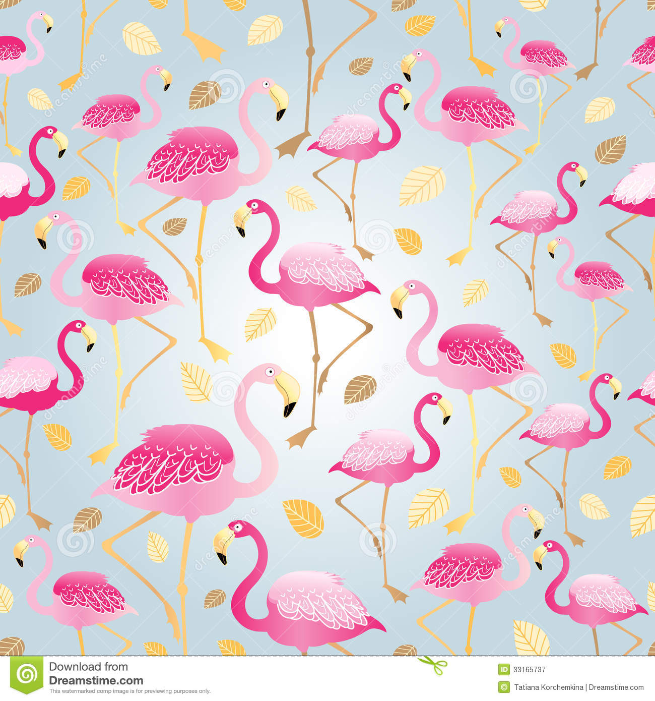 Texture Of Pink Flamingos Royalty Free Stock Photography