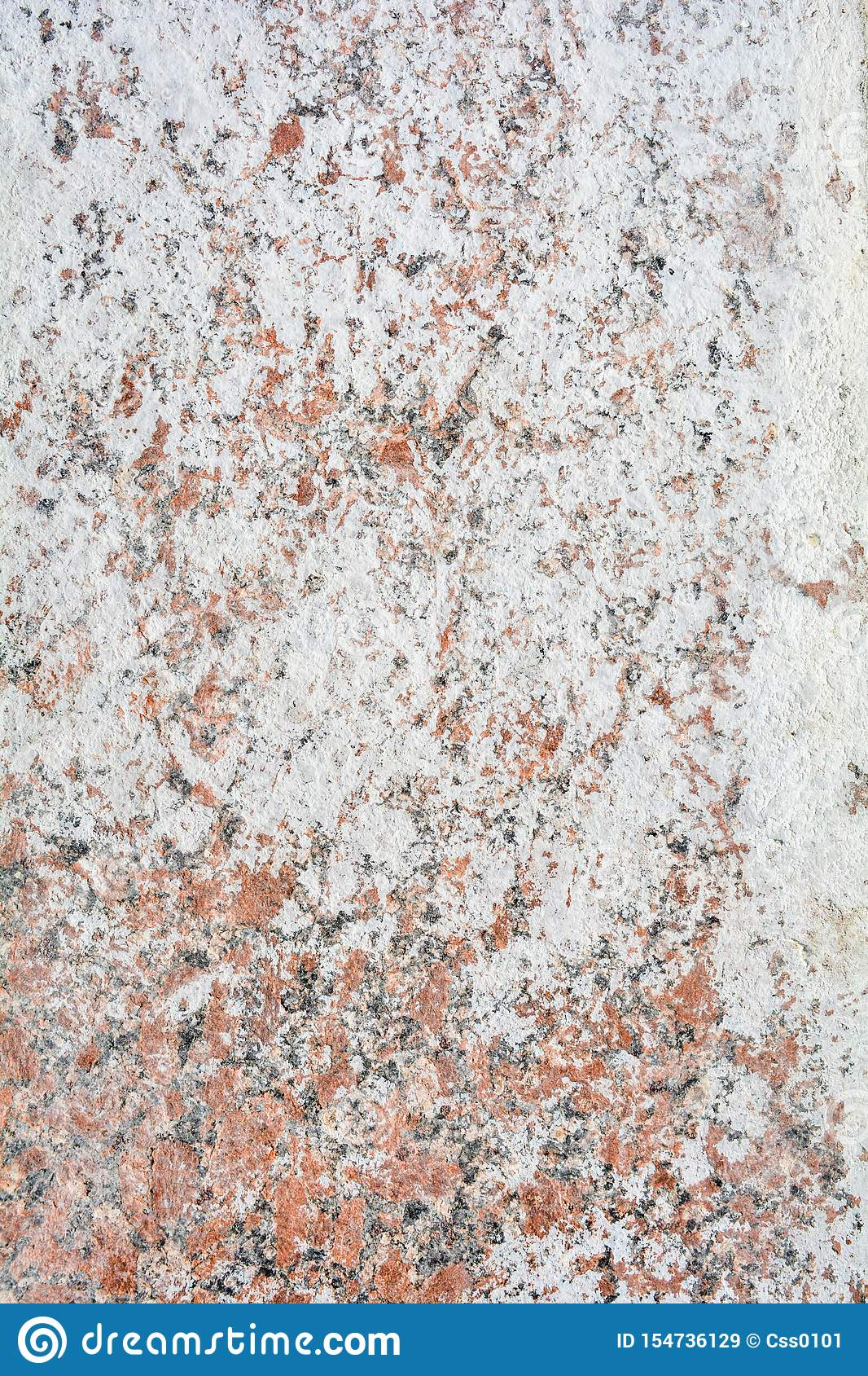 Texture of polished granite stone floor with white dense mud like chalk or lime