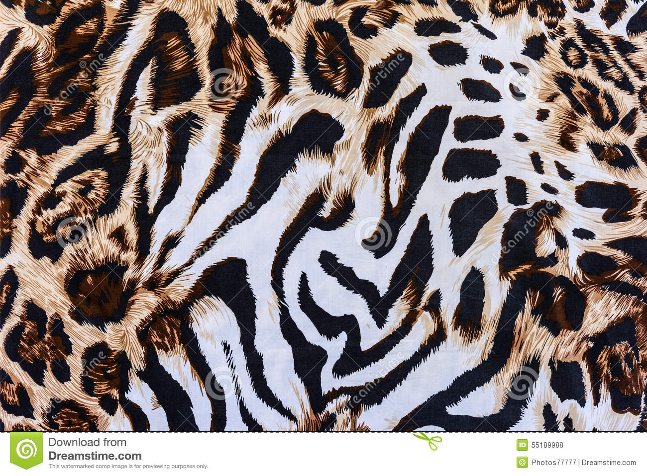 Texture Of Print Fabric Striped Leopard Royalty-Free Stock ...