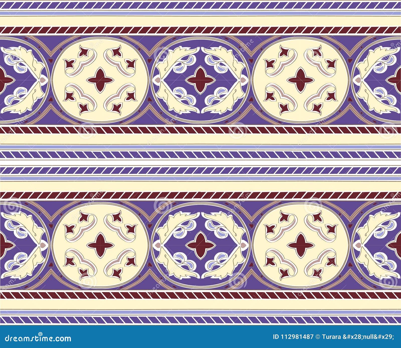 Arabic mosaica vector mosaic pattern