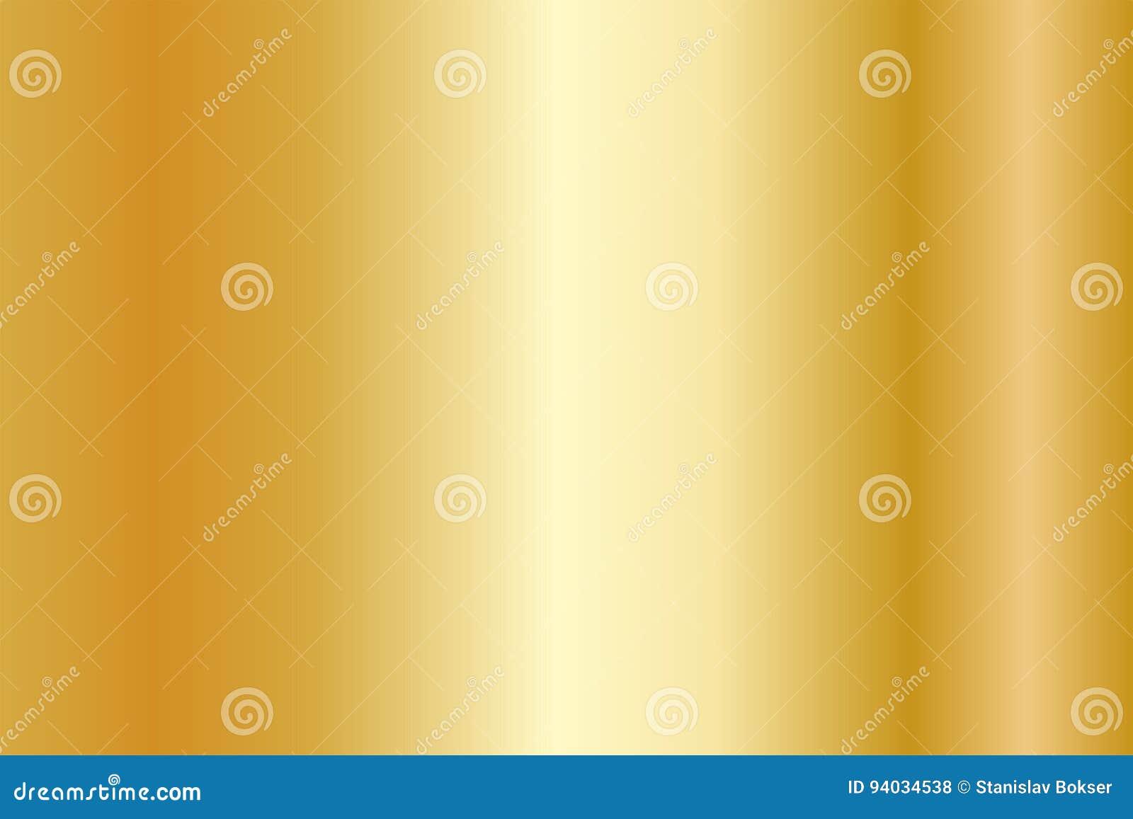 Texture réaliste d or Gradient brillant de feuille métallique