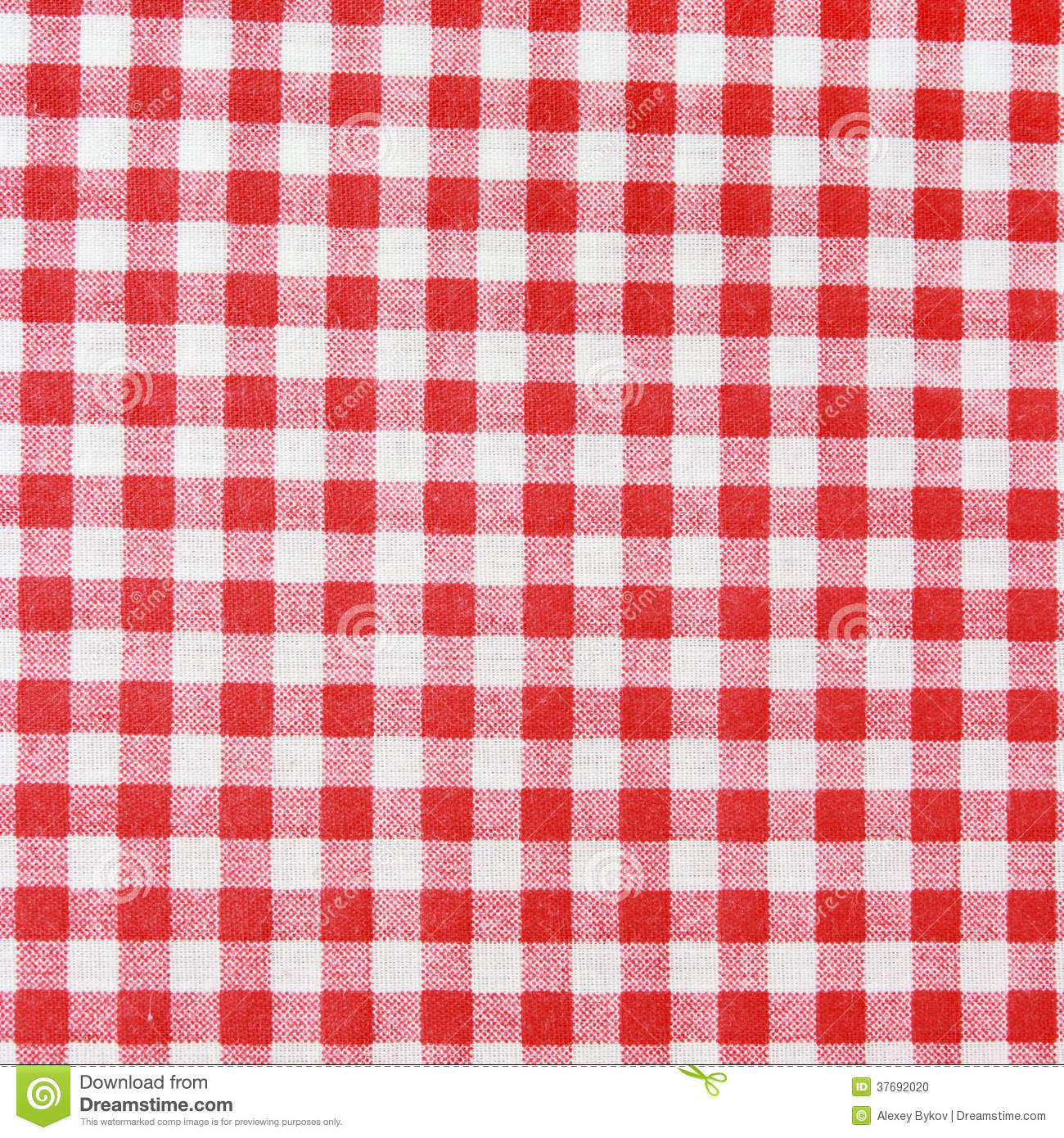 82ee90bacb9 Red linen tablecloth. Texture of a red and white checkered picnic blanket.