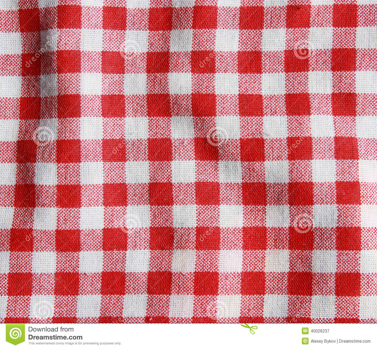 a095cdc651f Texture Of A Red And White Checkered Picnic Blanket. Stock Image ...