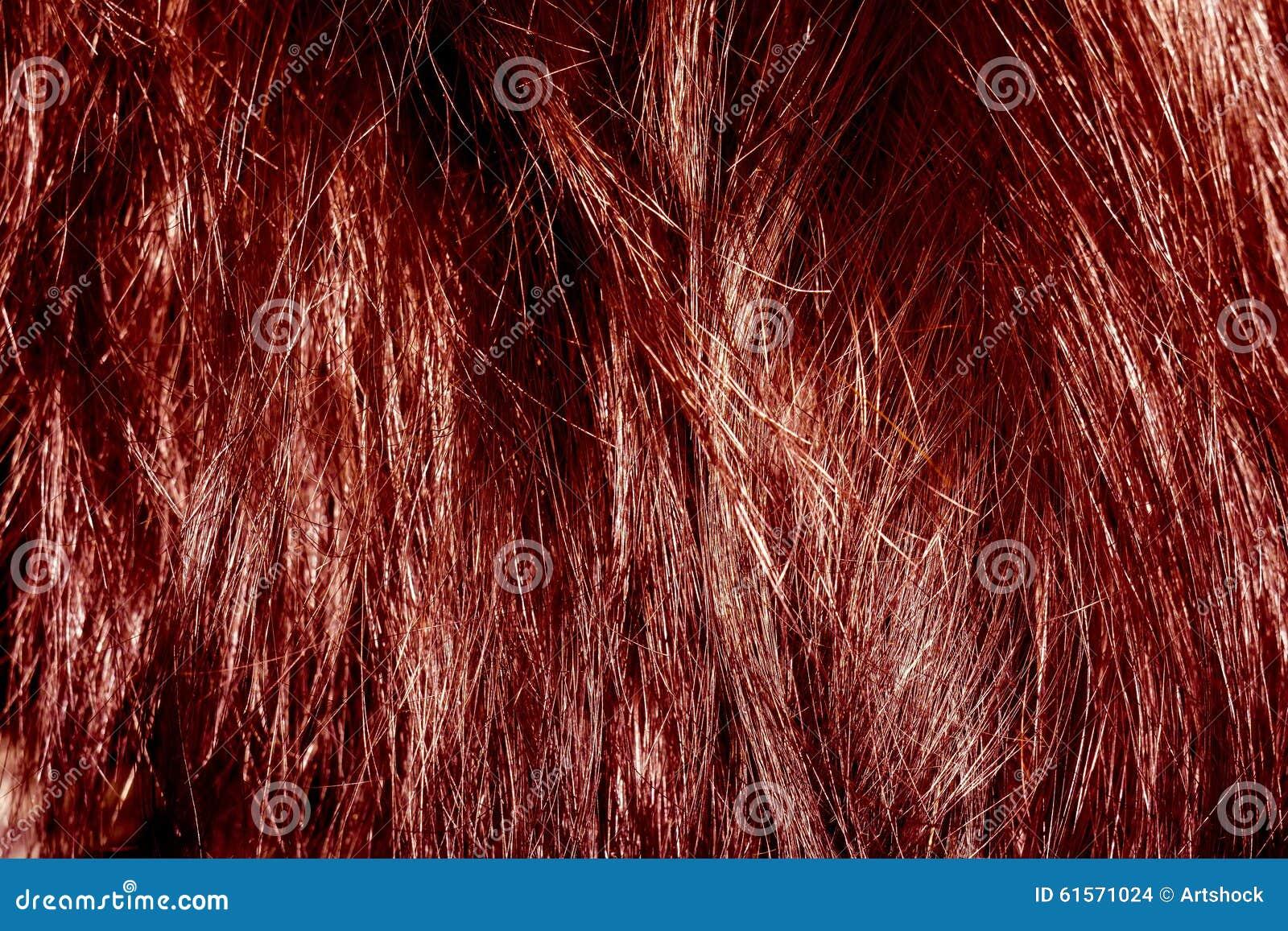 Texture rouge de cheveu
