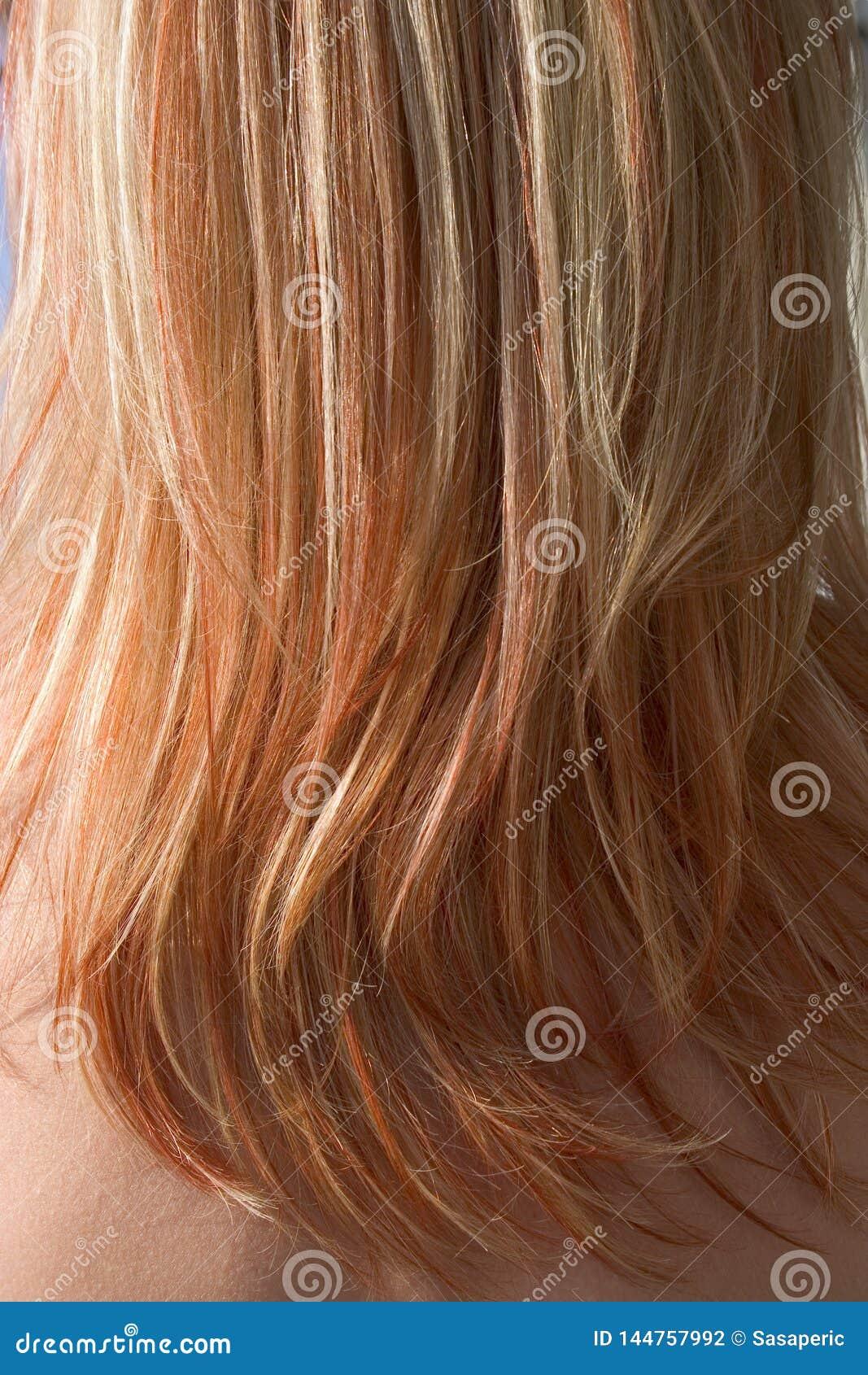 Texture rouge de plan rapproché de cheveux - fond