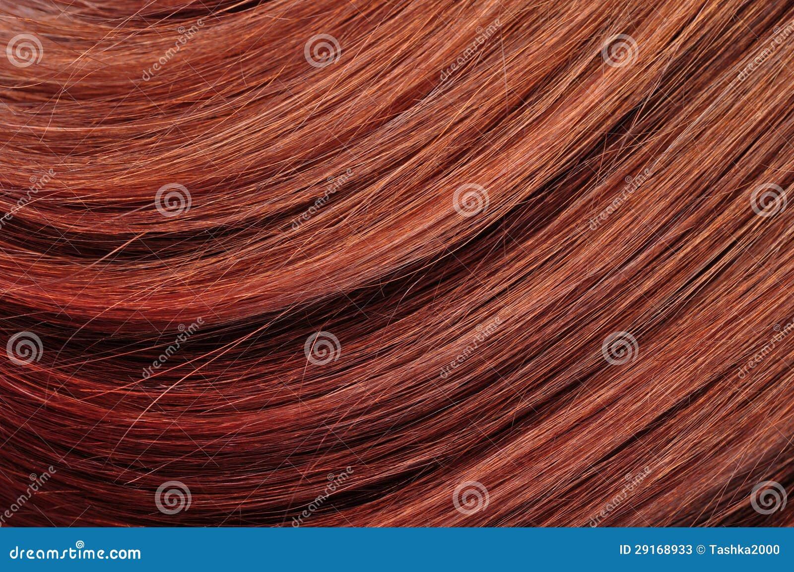 Texture rouge de plan rapproché de cheveu