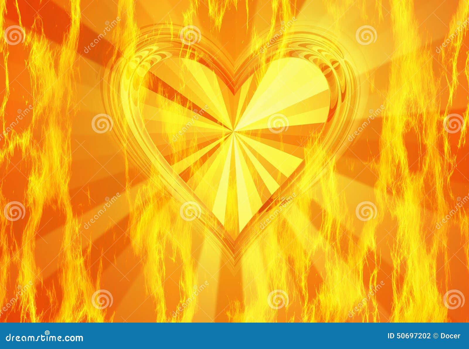 Texture Rouge Du Feu De Flamme Avec Le Fond Chaud De Coeur Illustration Stock - Illustration du ...