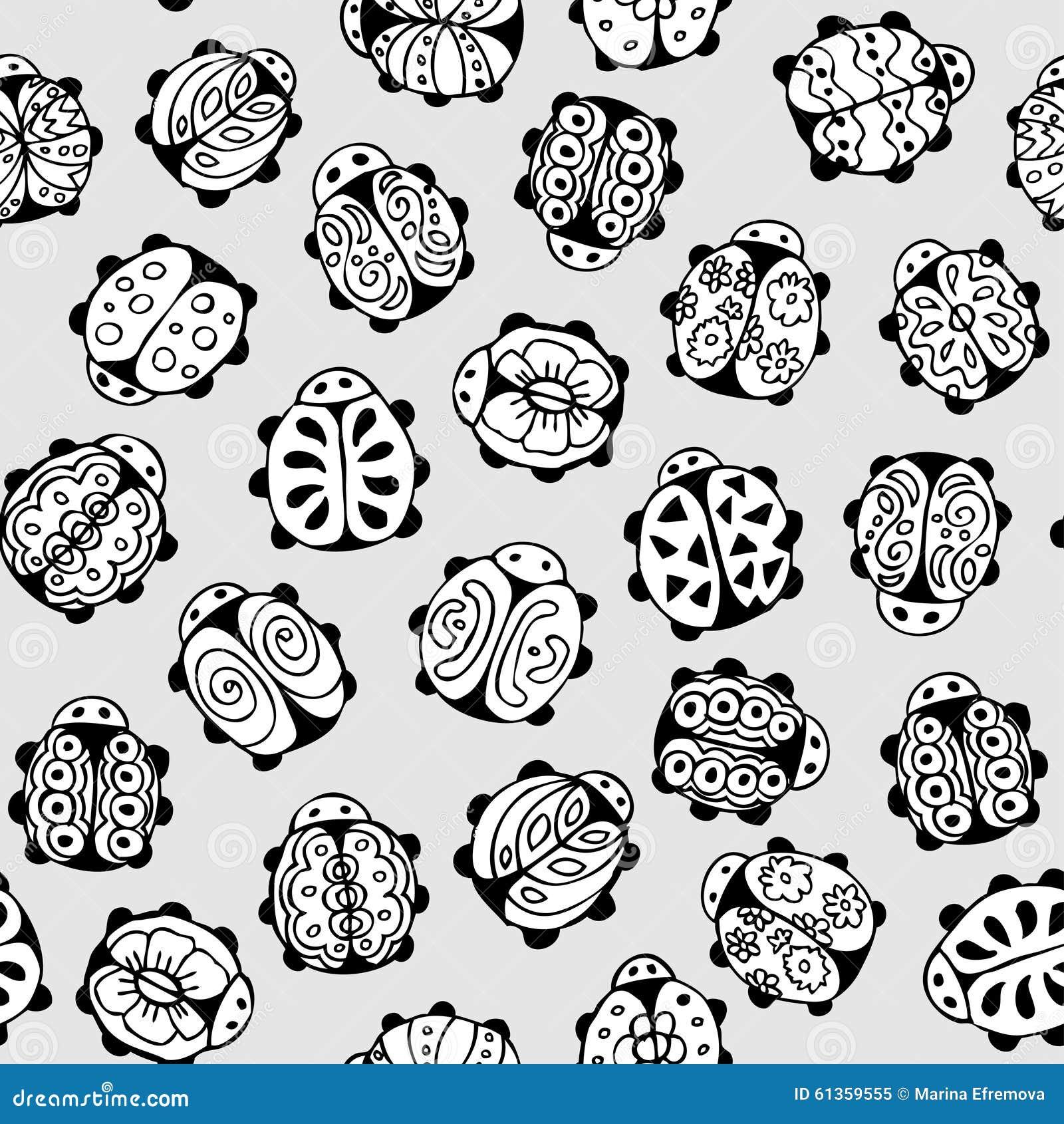 Texture sans couture avec l 39 image de la coccinelle for Coccinelle decoration exterieure