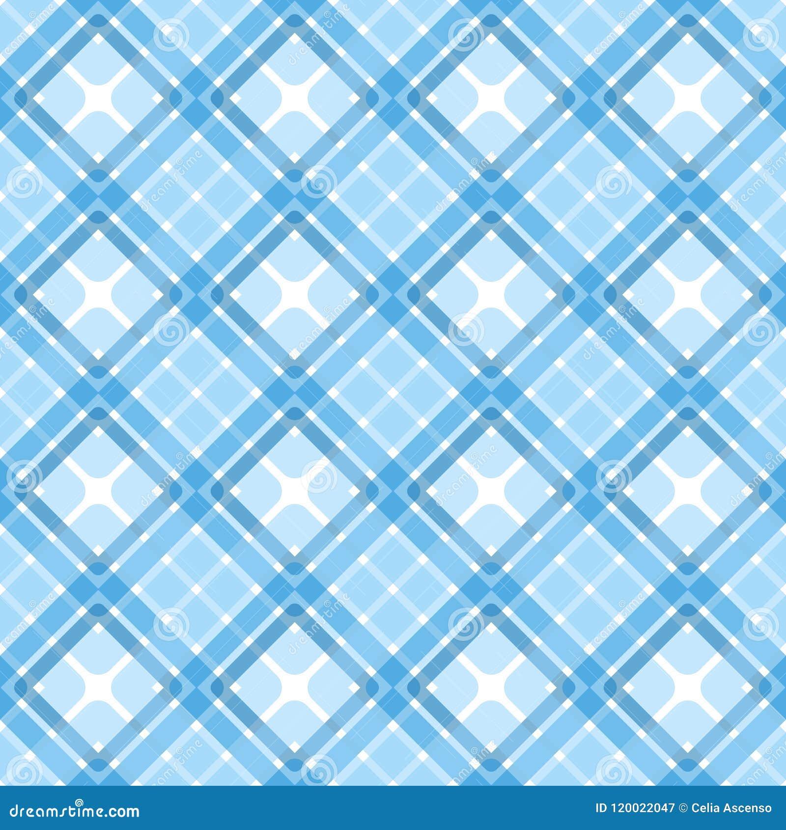 Texture sans couture bleue de places de plaid