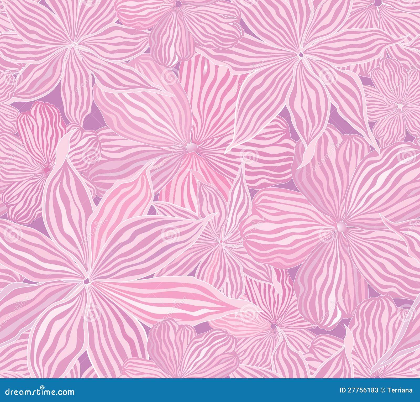 Texture sans joint de fond de vecteur de fleur abstraite