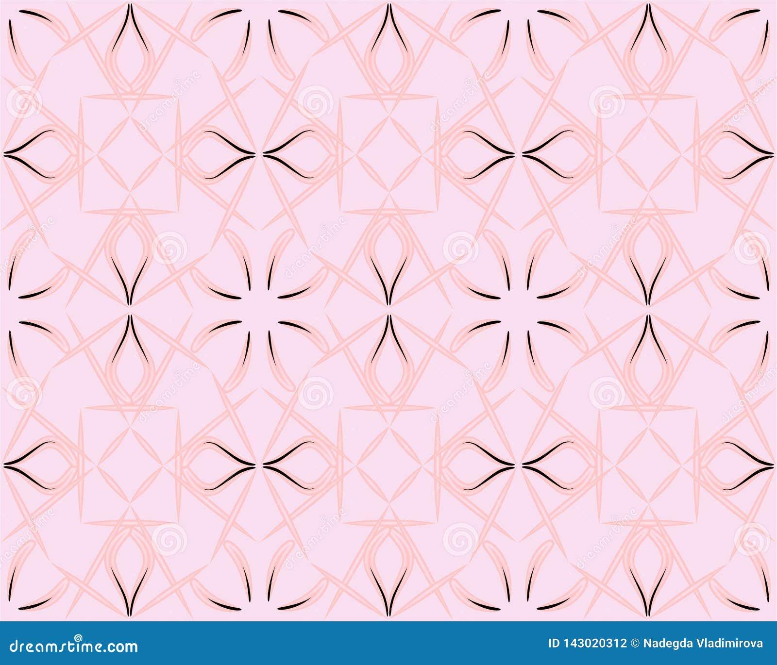 Texture sans joint florale fleurie Mod?le rose-clair Fond persan de style Le modèle sans couture peut être employé pour le papier