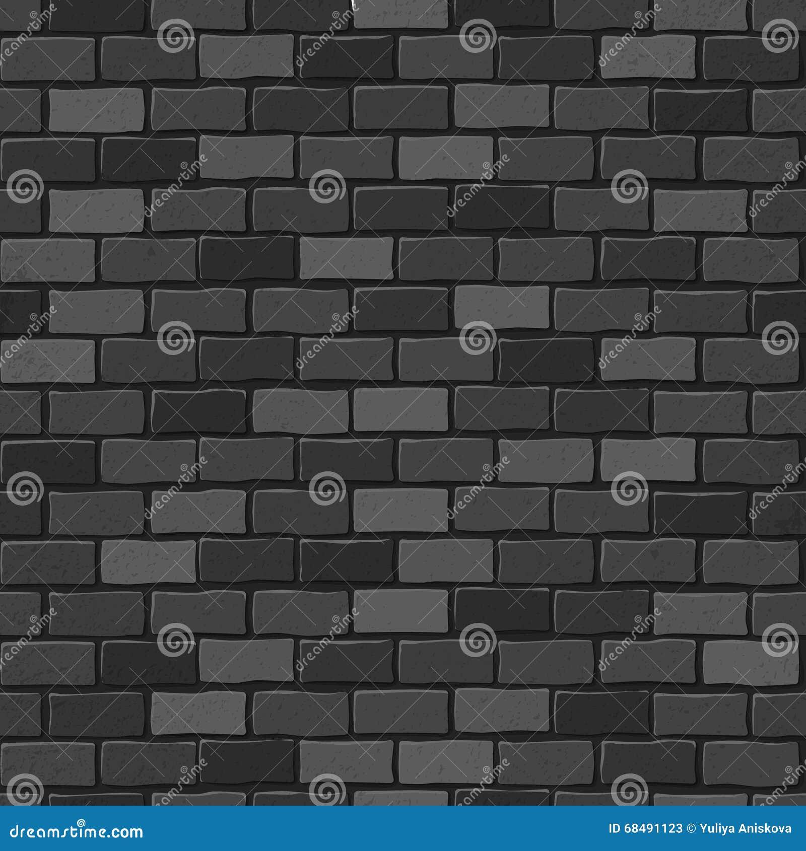 texture sans joint mur noir de blanc de brique illustration stock illustration du concret. Black Bedroom Furniture Sets. Home Design Ideas