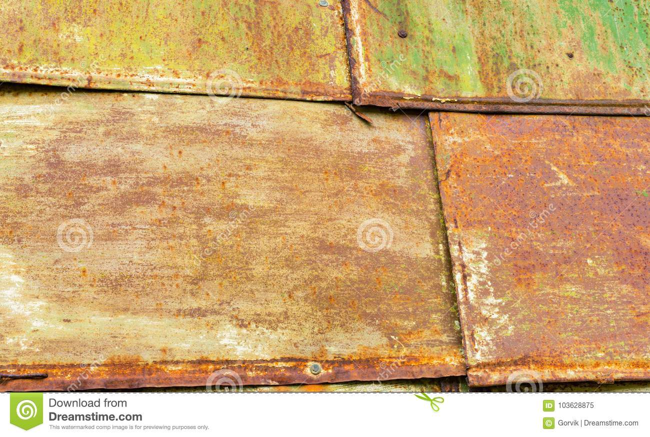 Texture - Sheets Of Rust-colored Metal Stock Image - Image of leaves ...