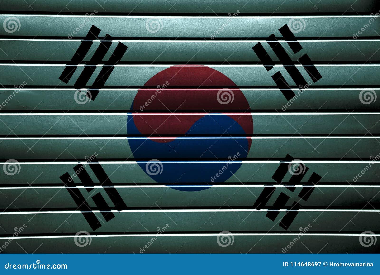 Texture of South Korea flag.