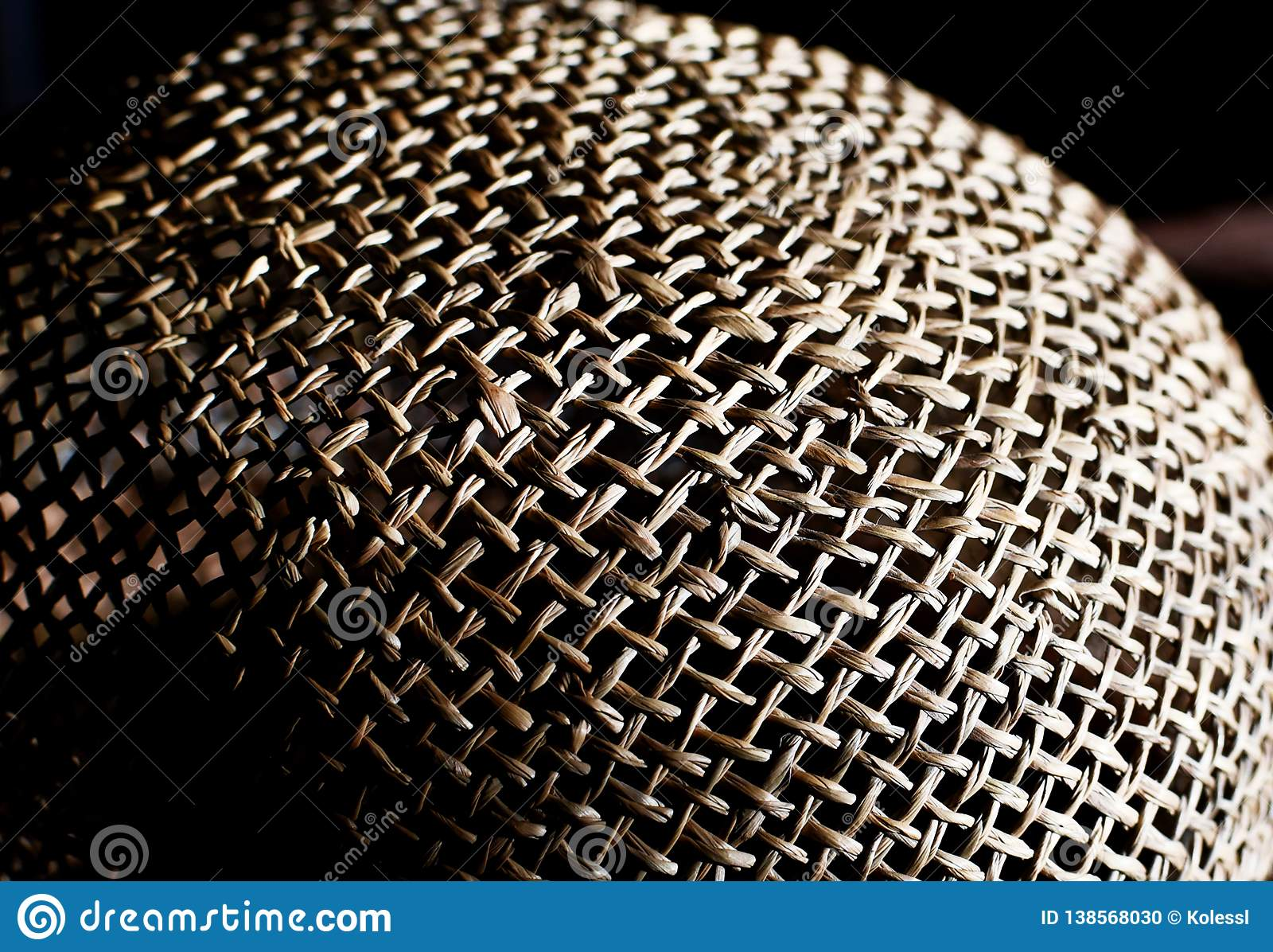 Straw hat texture, pattern background