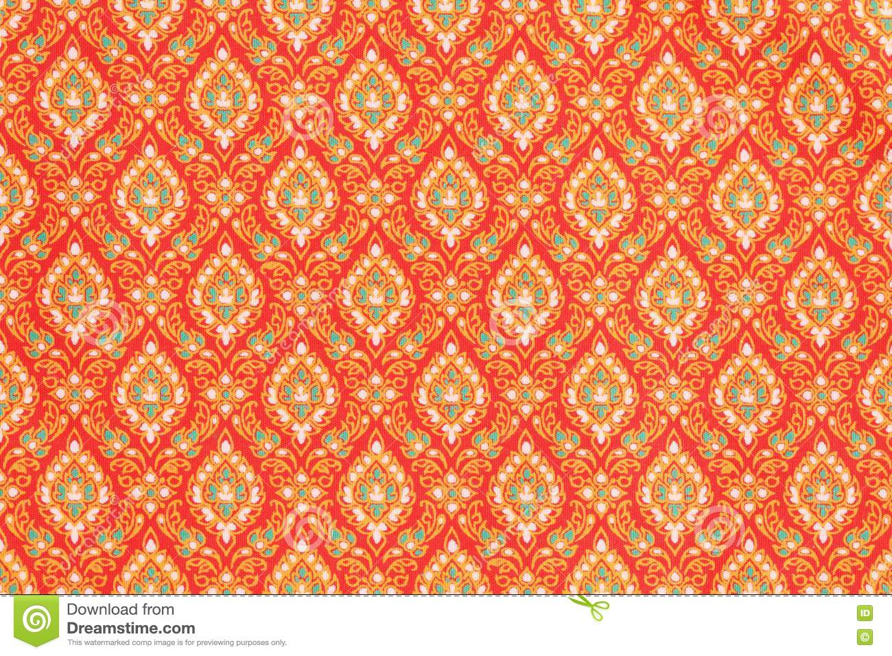 Thai Design Wallpaper : Texture of thai style cloth royalty free stock photo