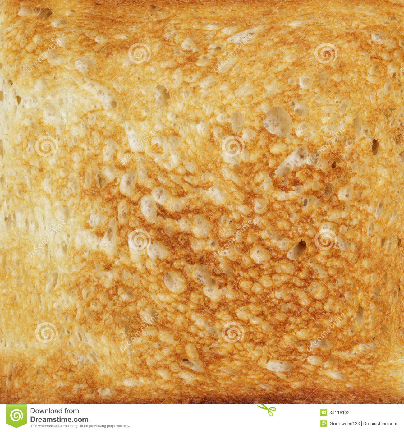 Texture Of Toasted Hot White Bread Stock Photography ...
