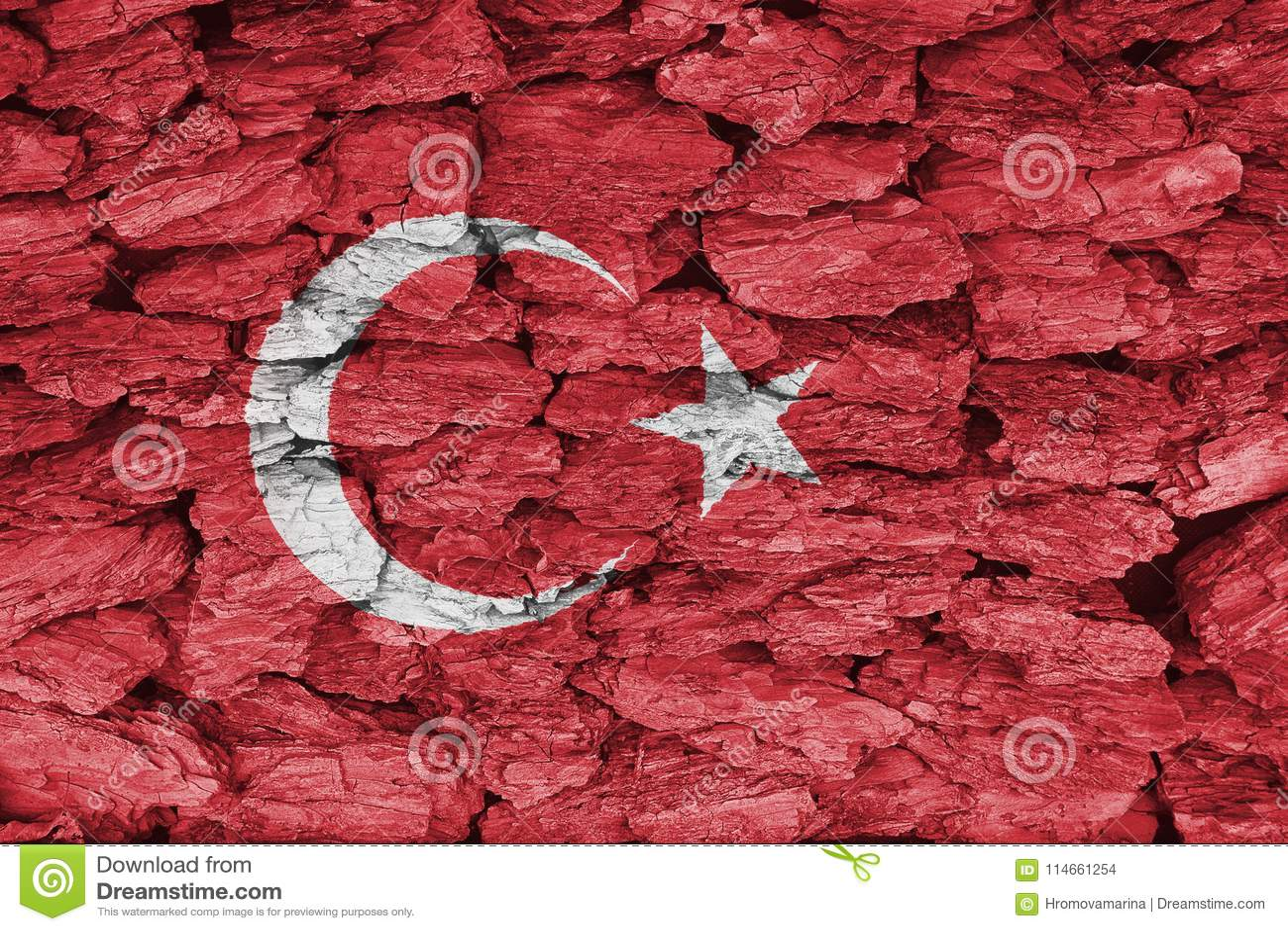 Texture of Turkey flag.