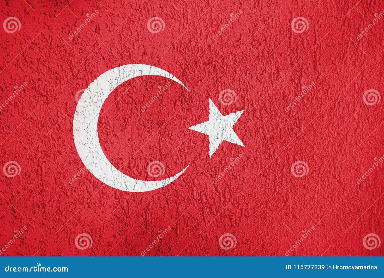 Texture of Turkey flag