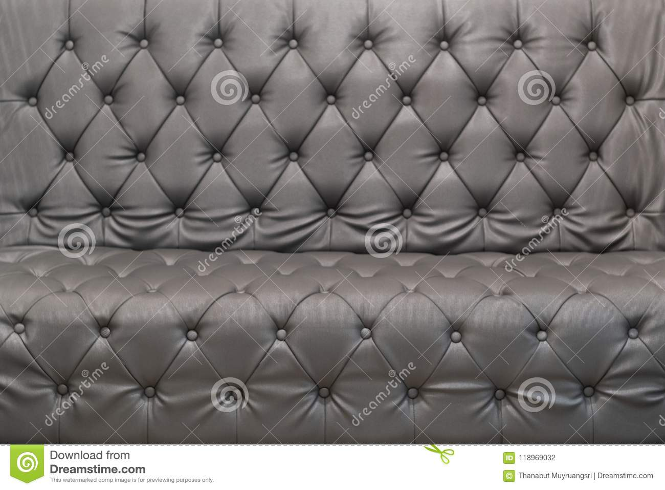 Texture Vintage Gray Leather Sofa