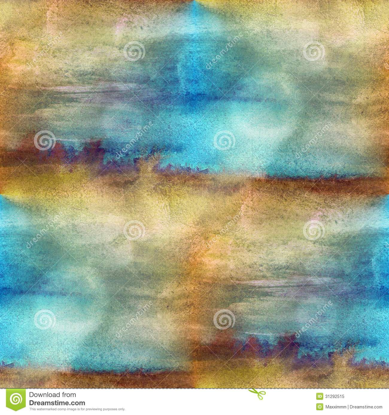 Texture watercolor brown blue seamless stock illustration for Blue and brown wall art