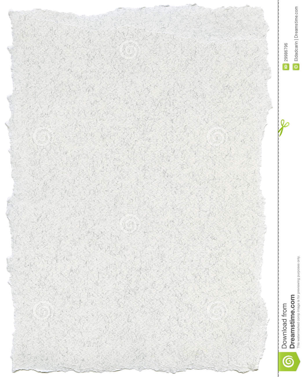 Fiber Paper Texture - White With Torn Edges Stock Photo ...
