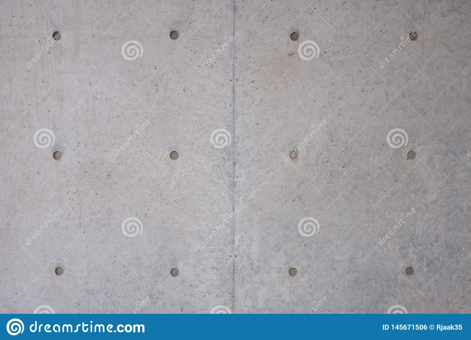 Textured and aligned exposed concrete.