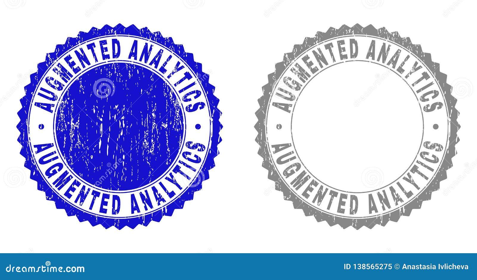 Textured AUGMENTED ANALYTICS Scratched Stamp Seals