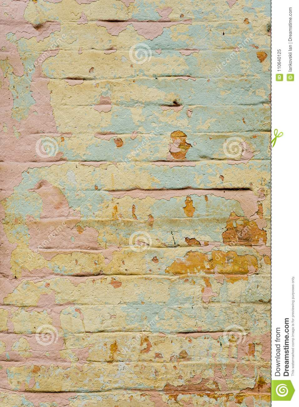 Textured Background Of Multi-layer Flaking Paint On The Wall. Mixing ...