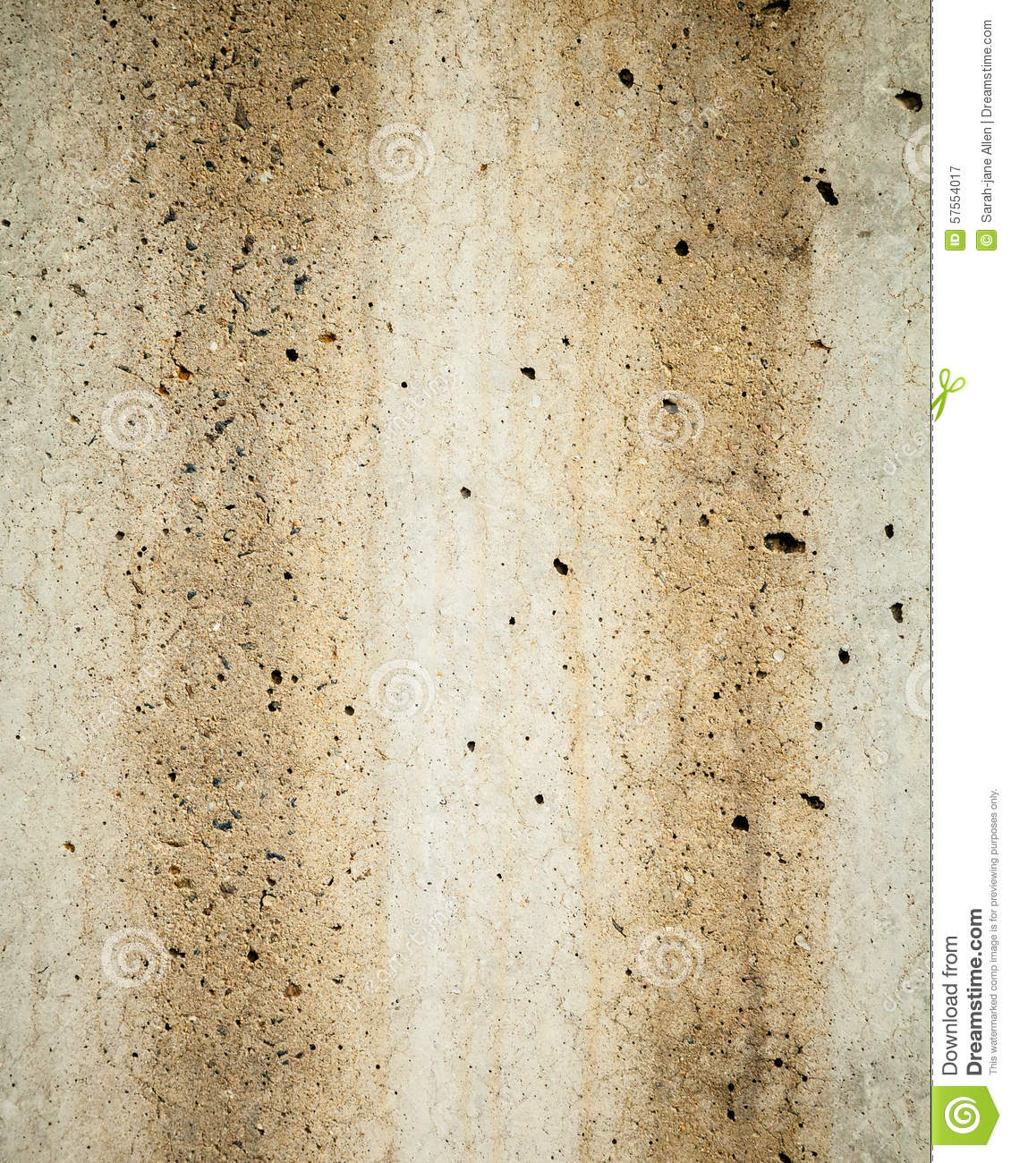 Rust Cement Wall : Textured background of two rust stains down grey concrete