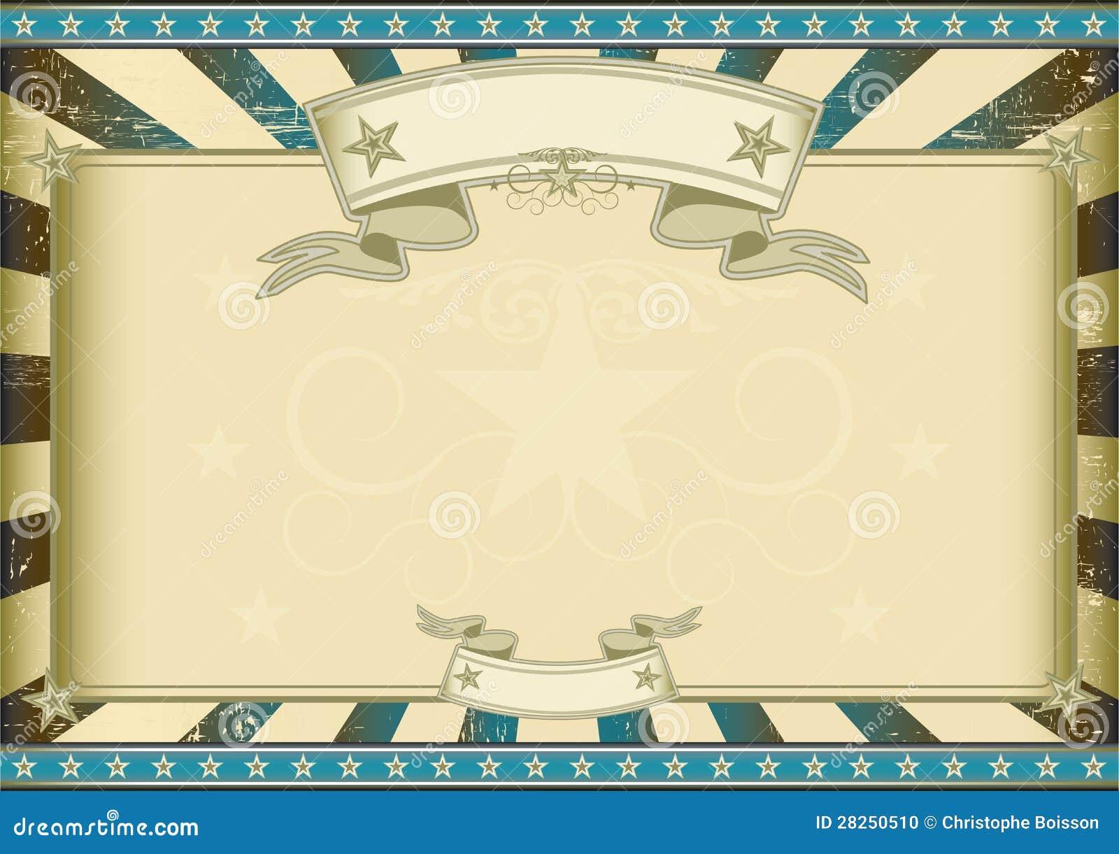 Textured Blue Retro Certificate Stock Photo Image 28250510