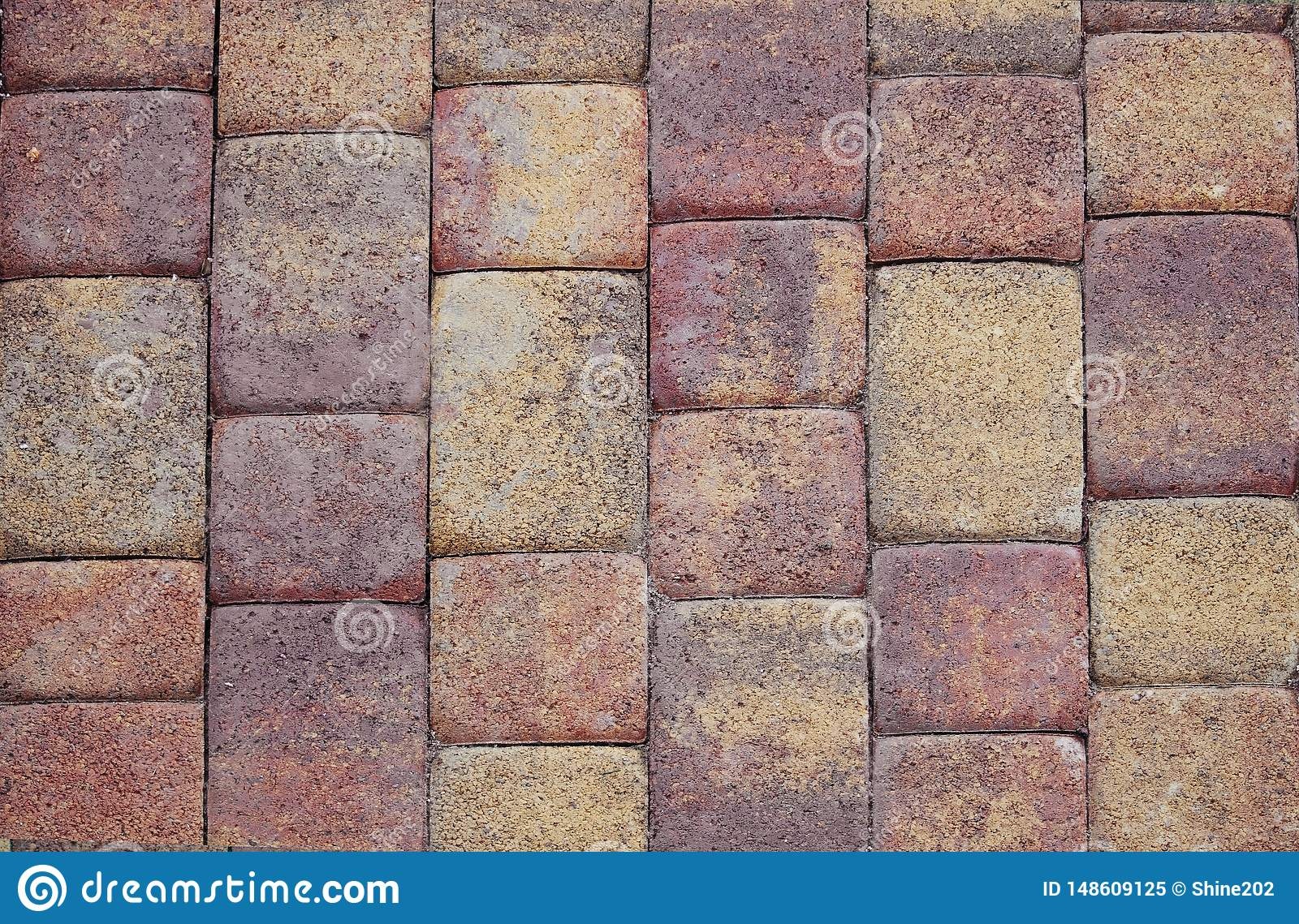 Textured colored tiles made of natural stone