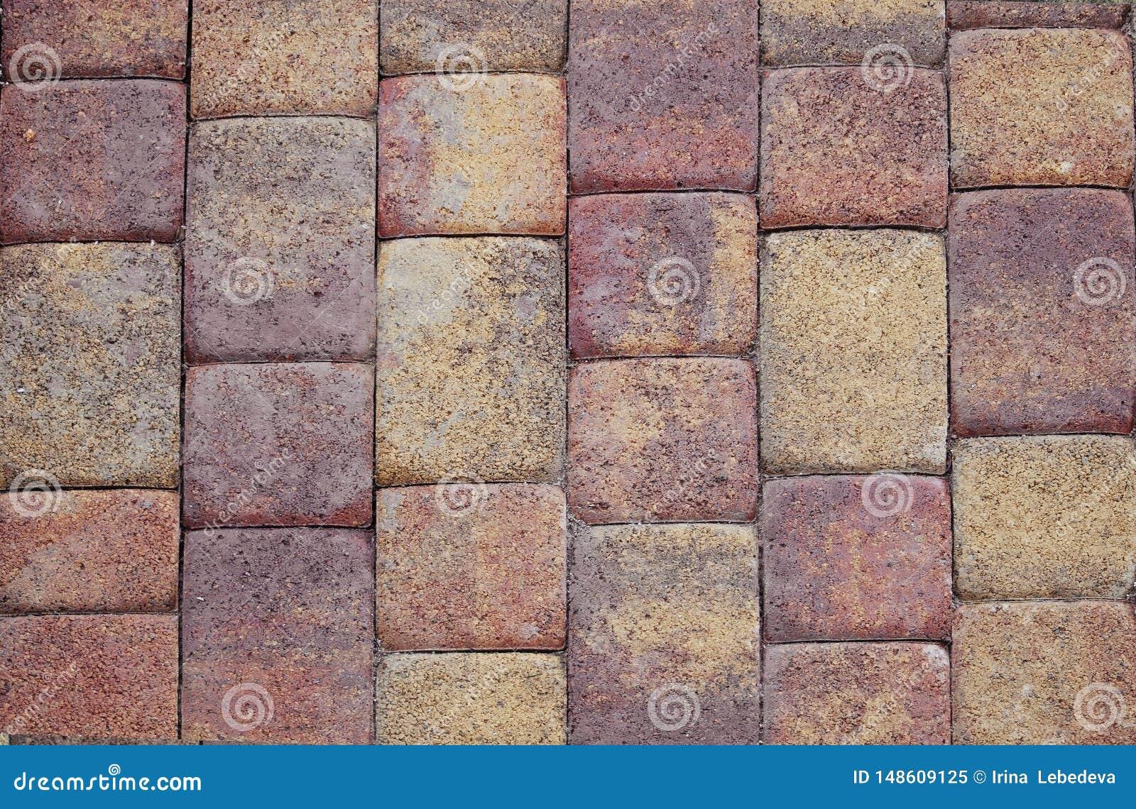 Textured färgade tegelplattor som gjordes av den naturliga stenen