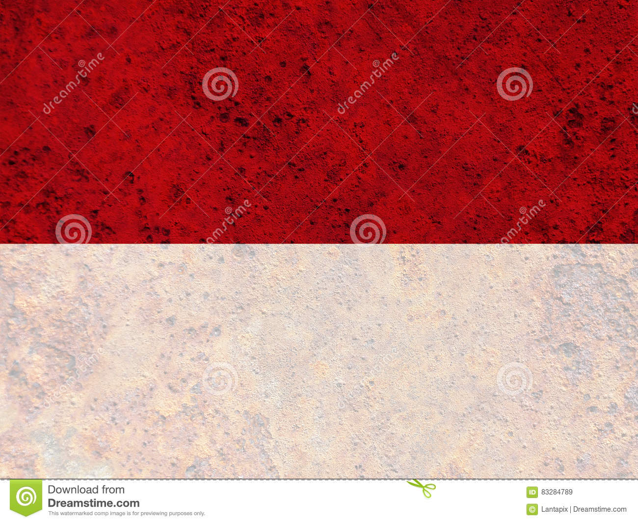 Textured flag of Indonesia in nice colors