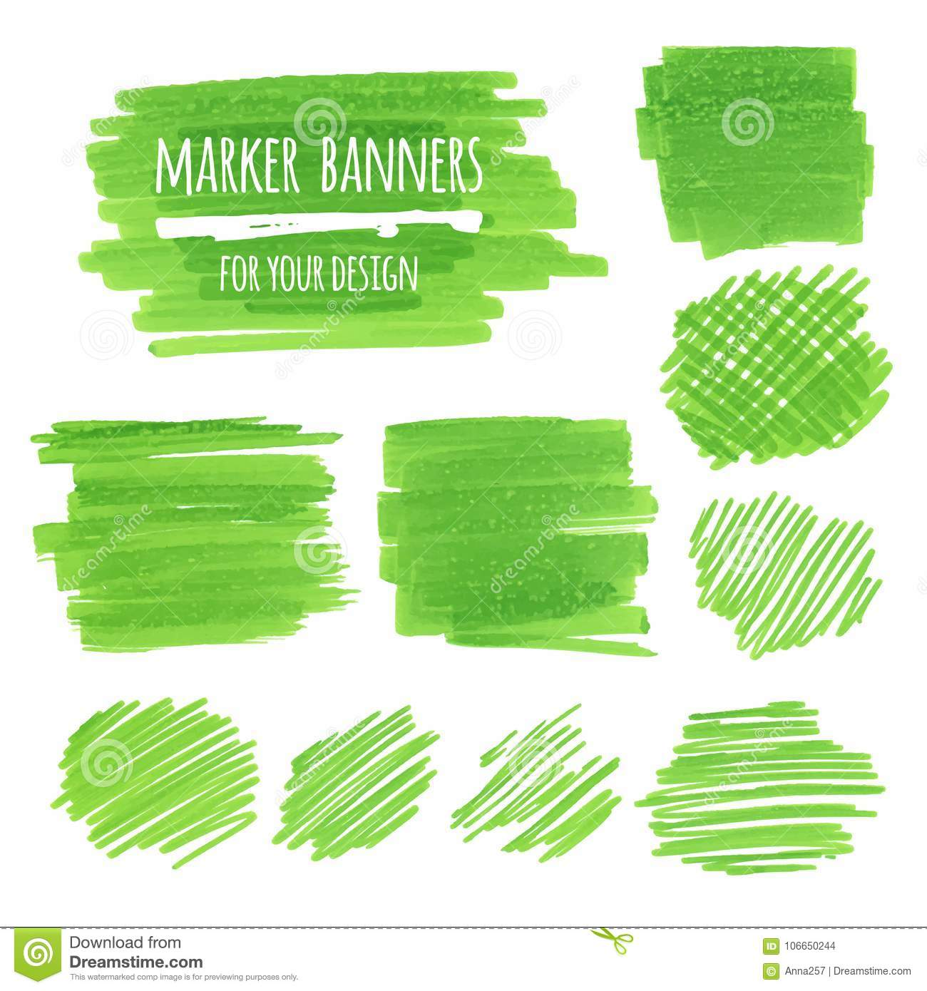 textured marker banners lines and stains template for business