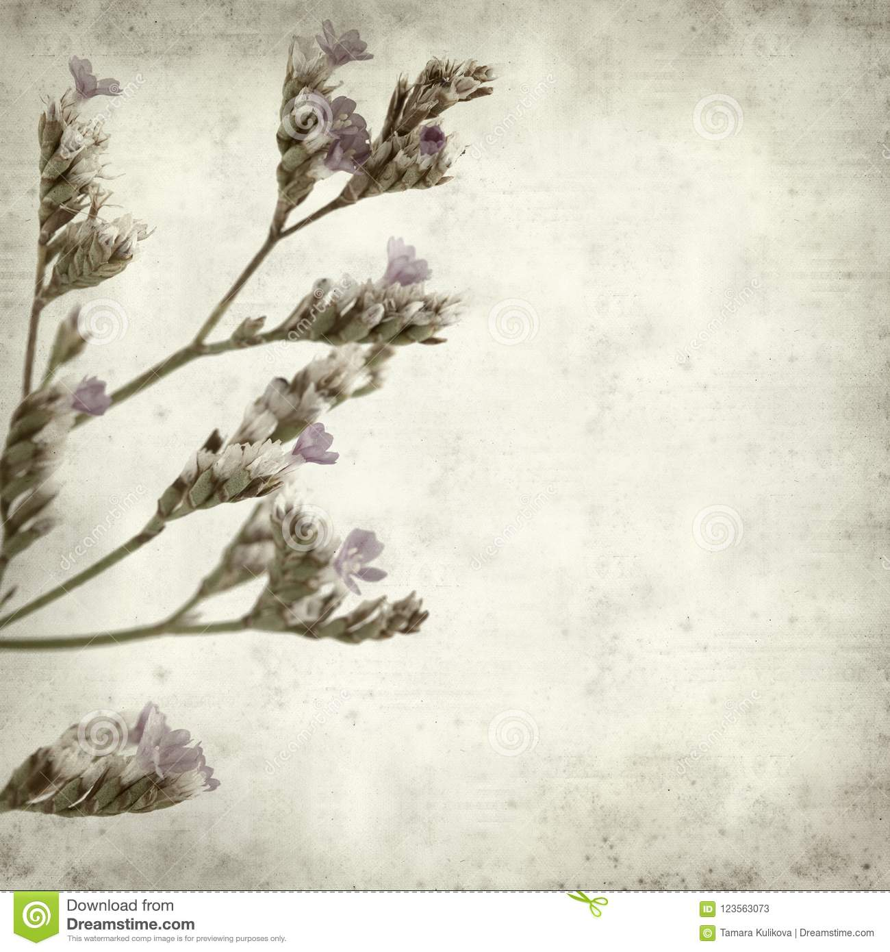 Textured Old Paper Background Stock Image Image Of Flowering