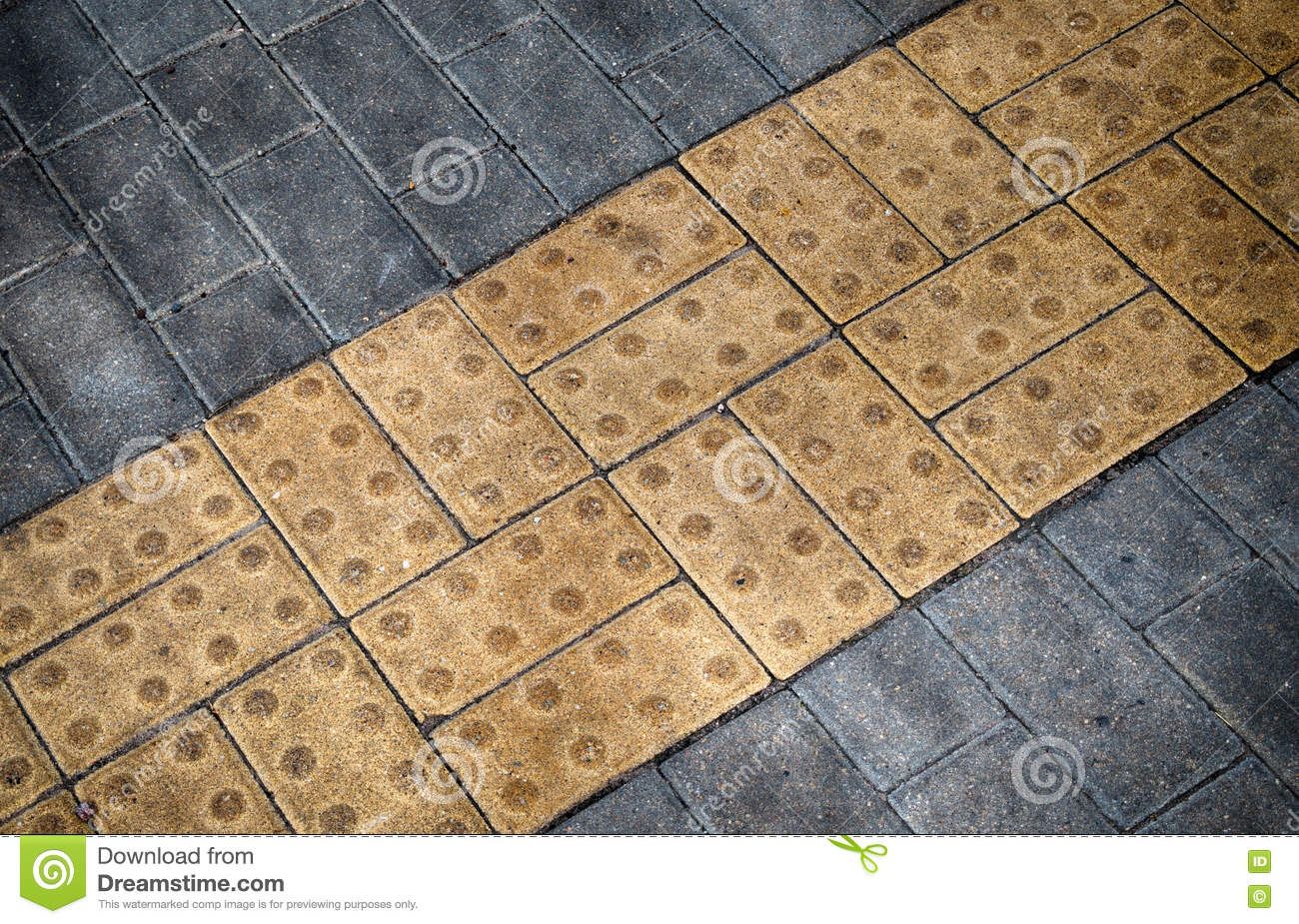 Tactile Paving For Blind And Visually Impaired Royalty ...