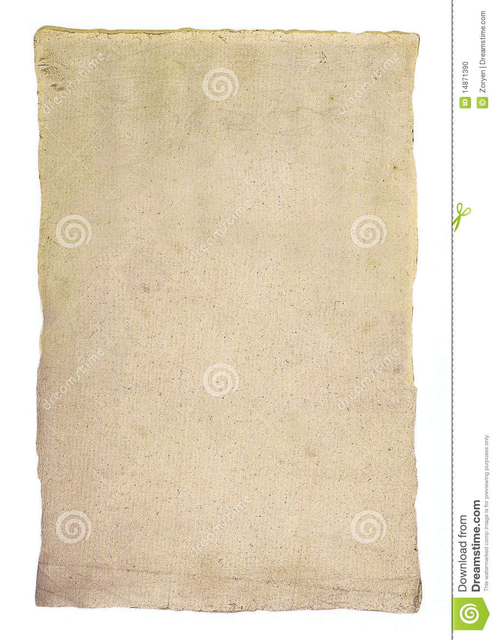 Textured sheet of old paper