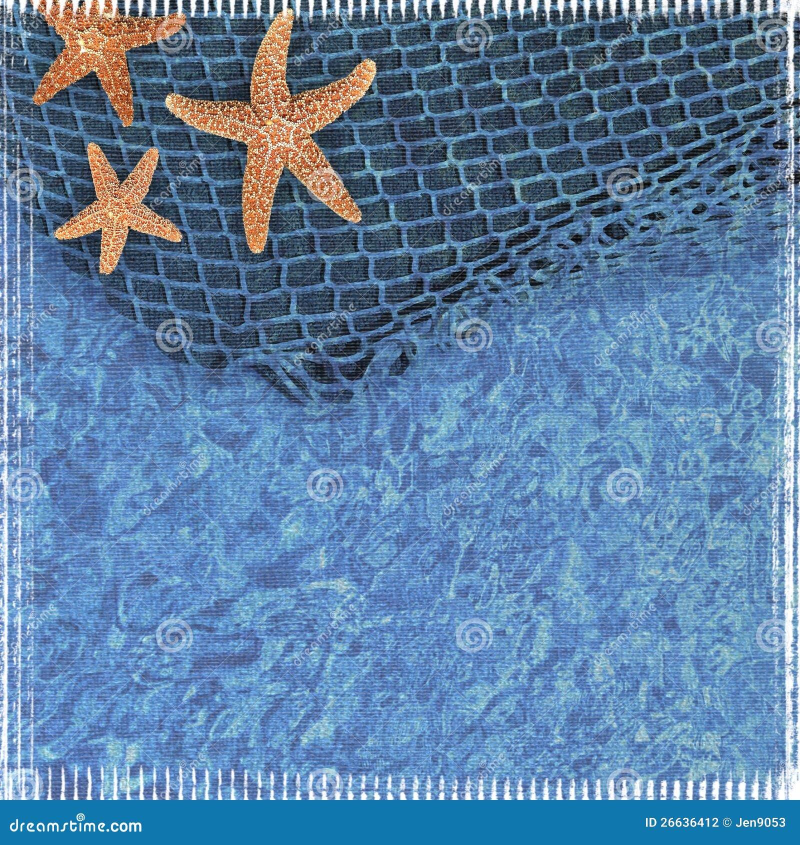 textured starfish scrapbook background stock illustration