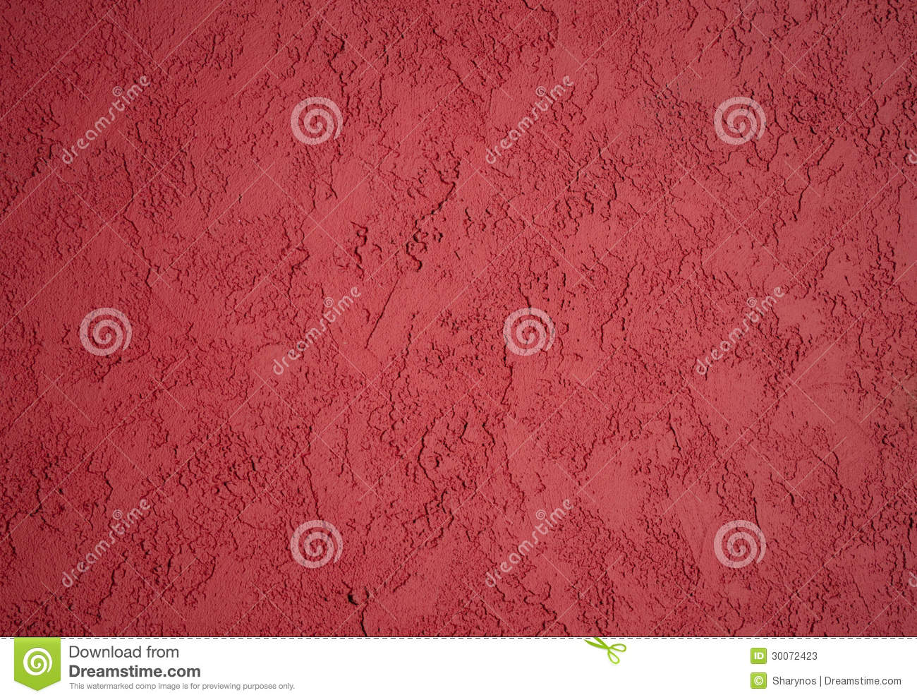 Textured red paint