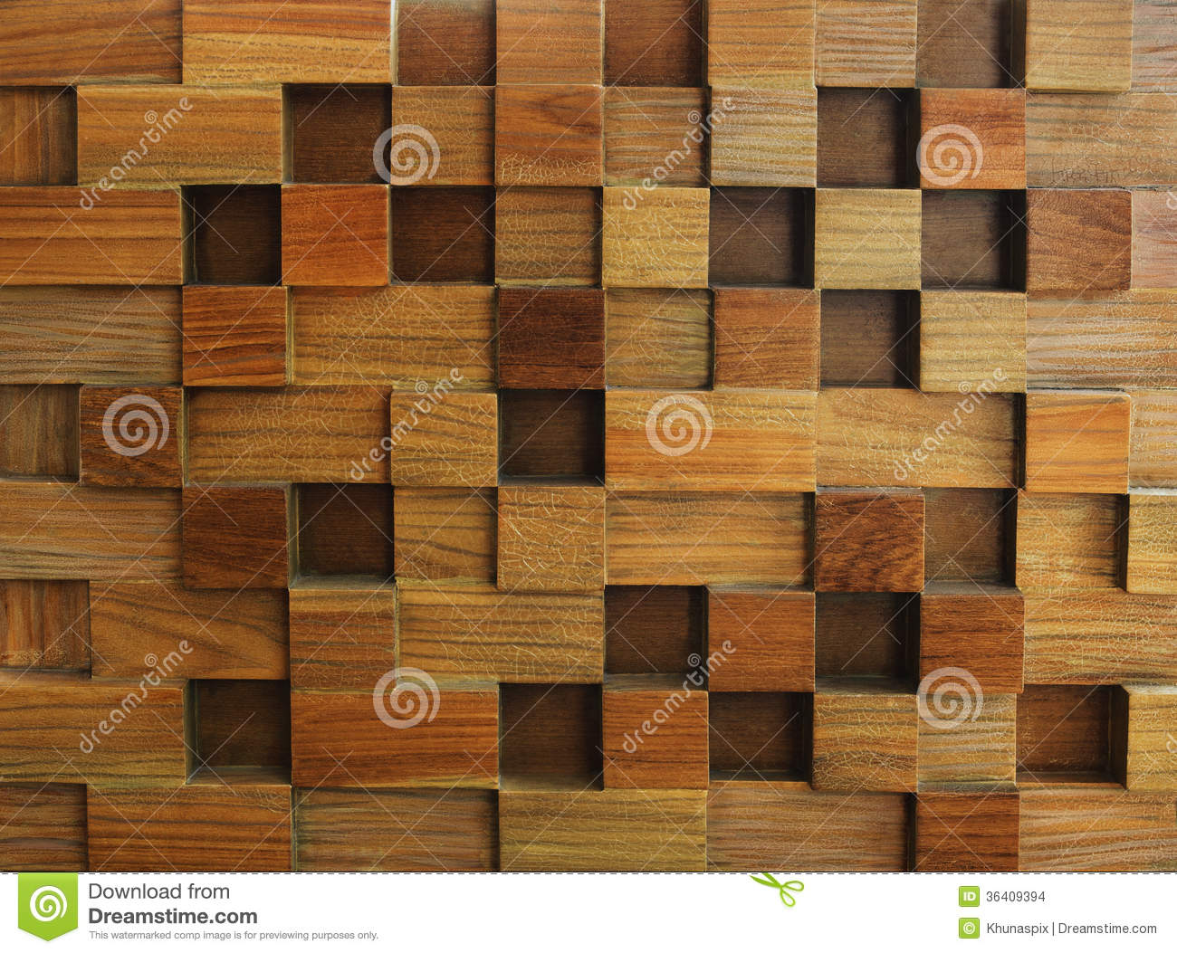 Textured of wood cube background use for multipurpose shape and