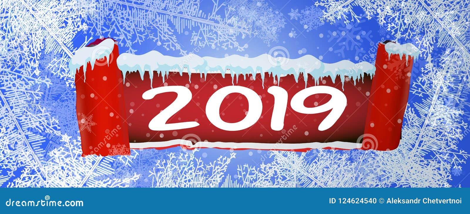 2019 texturer slösar is Isisbana vinter för blåa snowflakes för bakgrund vit Över huvudet sikt Bakgrund för vektorillustrationnat