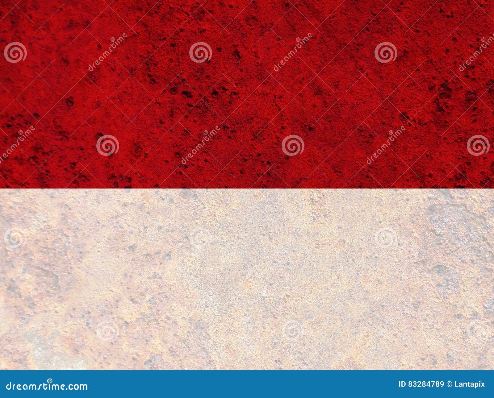 Texturerad flagga av Indonesien i trevliga färger