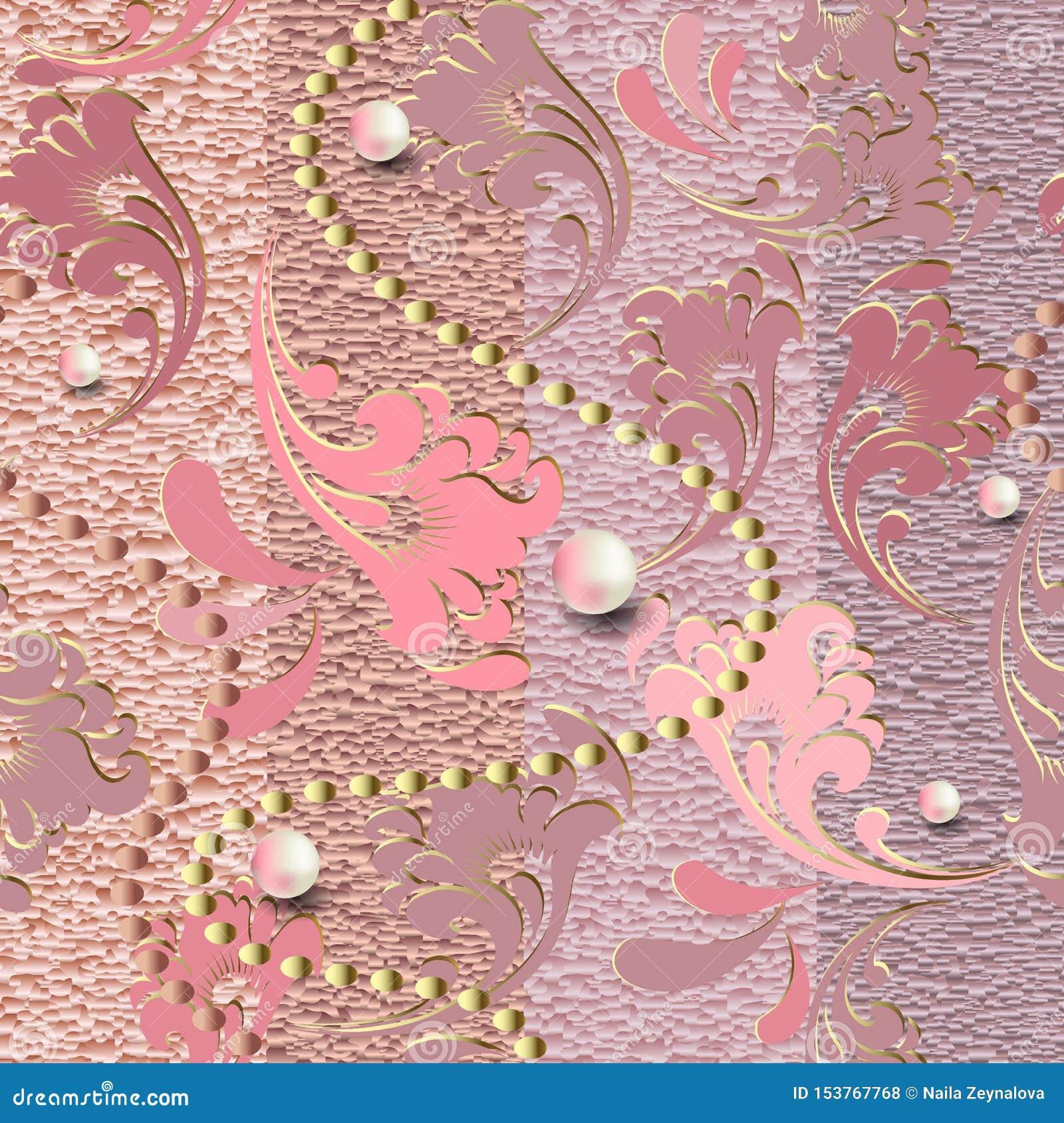 Texturerade smycken steg den guld- sömlösa modellen 3d randig vektor f?r bakgrundsgrunge Ytbehandla dekorativ grungy textur Tappn