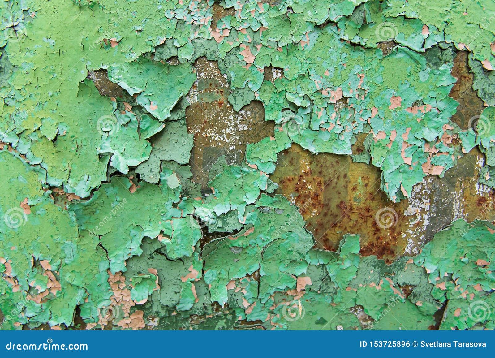 Texturice el verde oxidado del metal