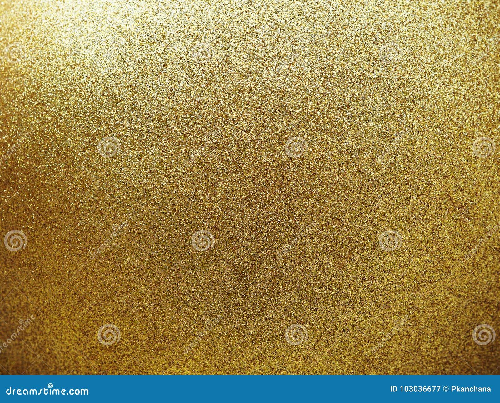 Texturisé de la boule ronde d or avec le scintillement