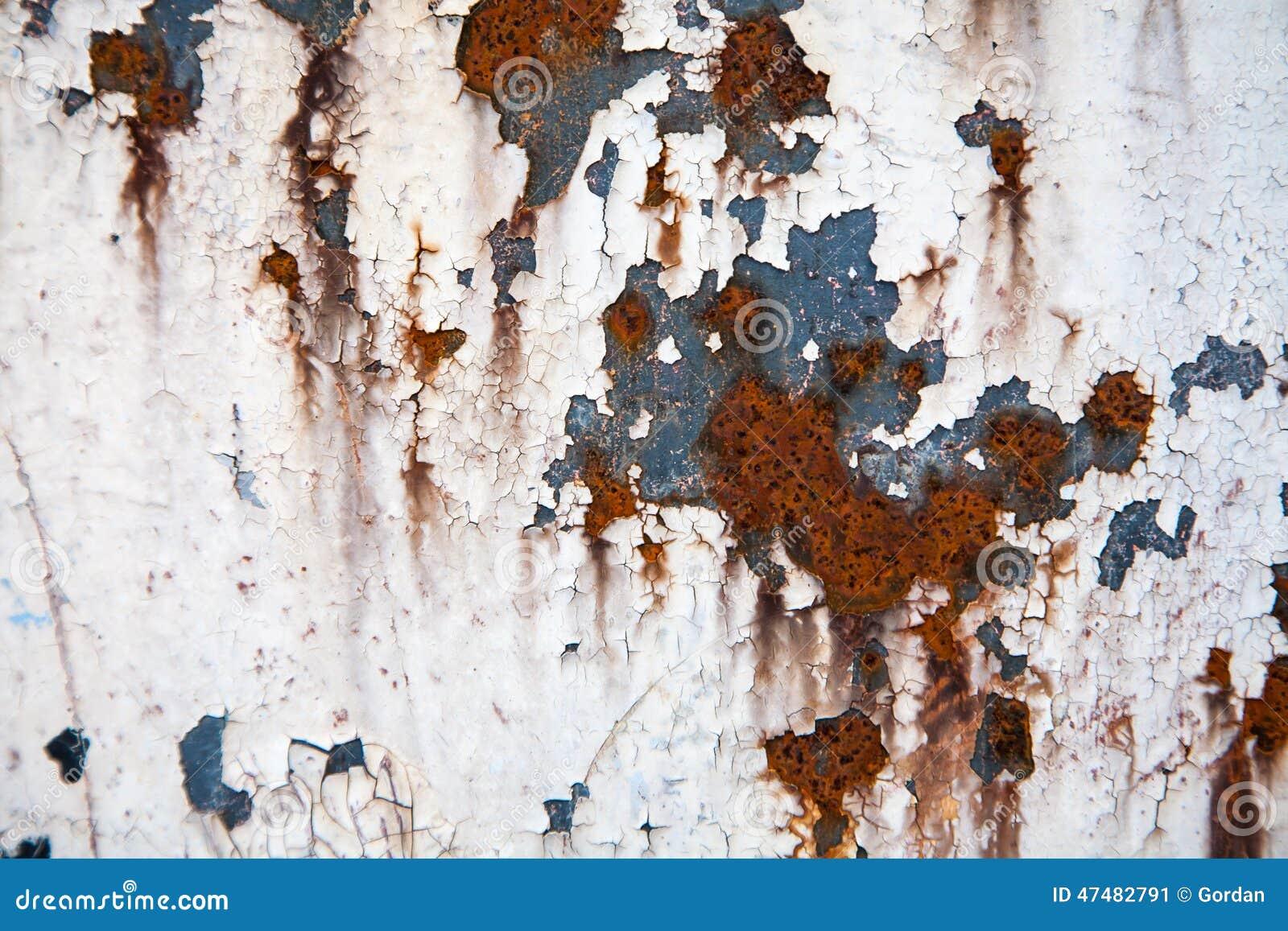 Textuur of de achtergrond van het Grunge retro roestige metaal