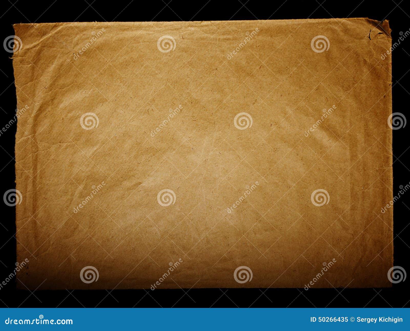 Textuur oud wijnoogst vergeeld document, briefpapieren