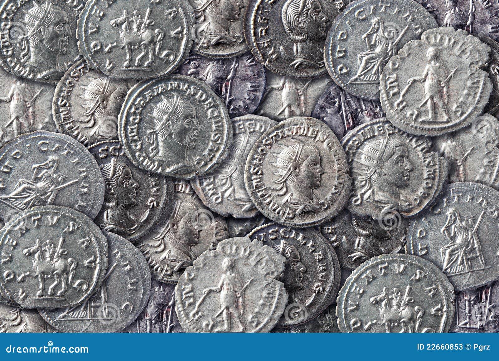 Textuur van antieke muntstukken