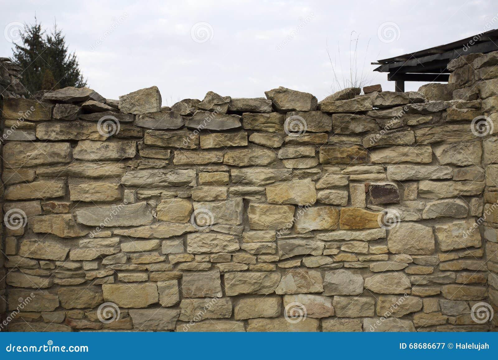 Textuur van de steen de oude muur oude rotsblokken in oude middeleeuwse baksteen stock - Muur steen duidelijk ...